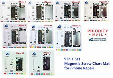 iPhone 4/4S/5/5S/5C/6/6+/6S/6S+  Magnetic Screw Chart Mat Repair Pad Guide 9in1