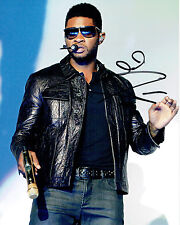 USHER R&B Singer Songwriter SIGNED 10x8 Rare Music Photo AFTAL Autograph COA