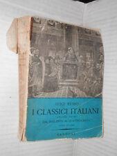 I CLASSICI ITALIANI 1 Dal Duecento al Quattrocento Luigi Russo Sansoni 1954 di