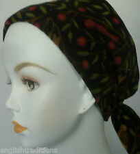 Womens Soft Cancer Black Flannel Cotton Hair Chemo Scarves Turban Alopecia