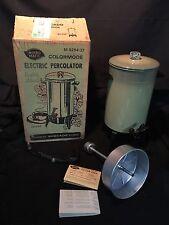 Vintage NOS Mirro Matic Avocado 22 Cup Electric Coffee Percolator M-9294-37