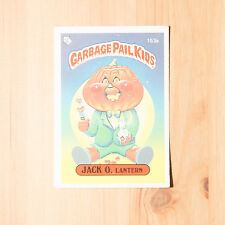 Vintage Garbage Pail Kids 1986 UK Sticker Collector's Card Jack O Lantern 153a