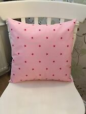 """Clarke and Clarke Pink Star 16"""" Cushion Cover"""