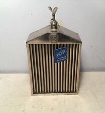 Pocher Torino Italy Mello Originale Rolls Royce Grill Chrome Flask Decanter