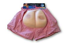 RED AND WHITE PARTY MOONING SHORTS BOXERS PRANK GAG GIFT JOKE