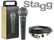 Stagg SDM50 Professional High Quality Handheld Wired DJ Microphone *5M XLR CABLE