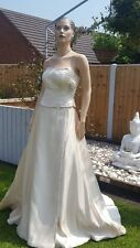 RONALD JOYCE WEDDING DRESS SKIRT CORSET Champagne gold TULLE UNDERSKIRT 12 £1020