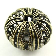 6pcs Antiqued Bronze Hollowed Pumpkin Beads Jewelry Findings 17*17*13mm 30108
