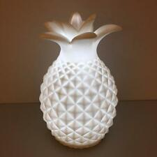 New Contemporary LED WHITE PORCELAIN PINEAPPLE NIGHT LIGHT Home Bedroom Lounge