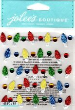 Jolee's CHRISTMAS LIGHTS REPEATS Stickers HOLIDAY DECORATIONS TREE SANTA