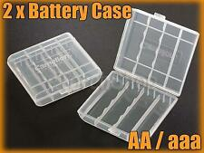 2 x Plastic Battery Carrying Case Holder for AA aaa Sanyo Eneloop Rechargeable
