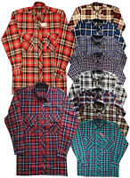 MENS SHIRT LUMBERJACK FLANNEL BRUSHED COTTON CHECK 100% Cotton for Casual Work