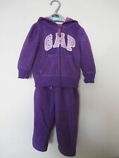 Girls Baby GAP Tracksuit. Age 18-24 Months. Girls Purple GAP Jacket & Trousers