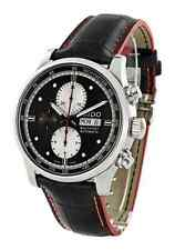 NWOT Mens Mido Multifort Automatic M0056141606122 Black Dial Leather Watch