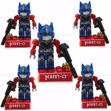 5 New TRANSFORMERS Optimus Prime KRE-O KREON Building Figure Toys Movie FW206