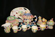 Vintage Mercuries Circus Ceramic 23pc Tea Set Monkey Elephant Platter and Teapot