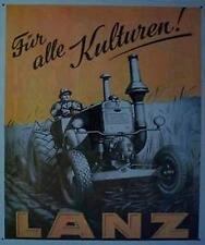 Älteres Blechschild Lanz Bulldog Diesel Traktor Reklame Werbung gebraucht used