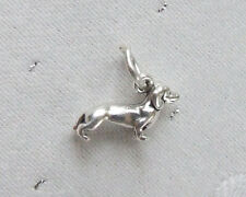 DACHSHUND SAUSAGE DOG SMALL 3D 925 CHARM STERLING SILVER