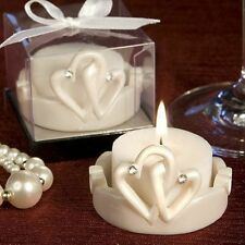 50 - Interlocking Hearts Design Candles - Wedding Favors - Free US Shipping