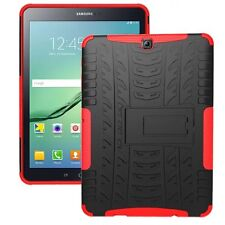 Rugged Shockproof Hard Tire Thread Rubber Case Cover Stand for Samsung Tablet