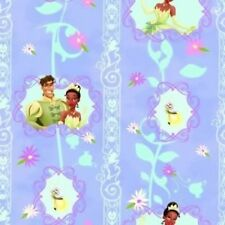 Fat Quarter Disney Princess Tiana Stripe Cotton Quilting Fabric -50 x 55cm