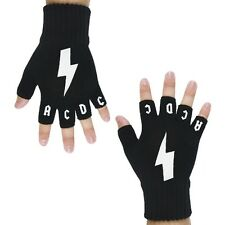 AC/DC - Lightning Logo Fingerless Gloves