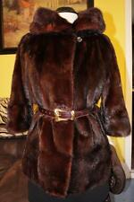 Very Cute True Vintage 60-ths Mahogany Mink Fur Bolero Jacket Coat S/M