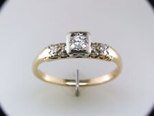 Vintage Antique Diamond Art Deco 14k Yellow Gold Engagement Ring