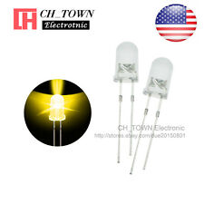 100pcs 5mm Water Clear Self Yellow Light Blink Blinking Flash LED Diodes USA