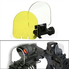 Tactical Foldable Sight Scope Lens Screen Protector Cover Shield 20mm Rail Mount