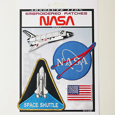 NASA Space Shuttle Pilot Iron-On Patch Super Set #105 - FREE POSTAGE!