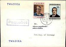 Schiffspost Schiff TWADIKA Paquebot Stempel Brief mit Panama Briefmarken 1975