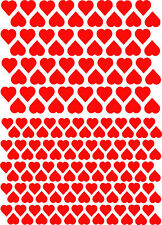 Valentine love Heart Shape Vinyl Stickers 20mm & 15mm Self Adhesive Peel & Stick