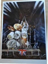PRINT ARTWORK  'CLIVE BURR' IRON MAIDEN  BY JIM FORRESTER  ( friend to C. Burr)