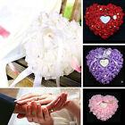 Romantic Rose Wedding Favors Heart Shaped Pearl Gift Ring Box Pillow Cushion New