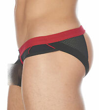 GREGG HOMME CHEEKY MESH C-RING JOCK BLACK 132334 mens undergear XL