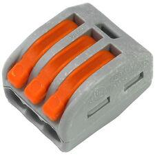 10 WAGO 222-413 Verbindungsklemme 400V 3-polig CAGECLAMP® 3-Leiter-Klemme 857077