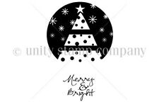 itty bitty by Unity Unmounted Rubber Stamps *Merry & Bright*  458392