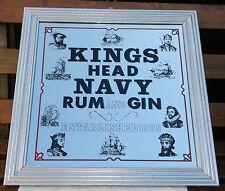 """Vintage Kings Head Navy Rum & Gin Pub Mirror 23.5"""" by 23.5"""""""