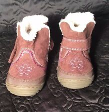 "Toddler Girl's Brown ""Arliss"" Surprize by Stride Rite Fur Lined Boots Size 4"
