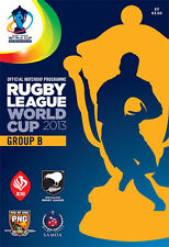 * 2013 RUGBY LEAGUE WORLD CUP GROUP B MATCHES OFFICIAL PROGRAMME *