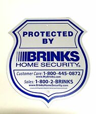 1 SIGN BRINKS SECURITY HOME ALARM SIGN ADT 'L REFLECTIVE NO POST