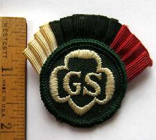 Vintage Girl Scout 1963-1980 CADETTE BERET COCKADE Hat Uniform Patch Badge