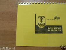 D0039 DKW---KUNDENDIENST SCHECKHEFT---TR 250/2-MODELYEAR ABOUT-