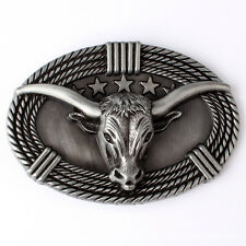 Vintage Longhorn Men's Belt Buckle Western Cowboy Native American (CW-07)