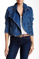FREE PEOPLE NWOT, DENIM BAND JACKET IN VINTAGE BLUE M $148.00