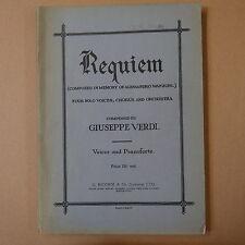 VERDI REQUIEM vocal score , latin / english paper covers edition , ricordi