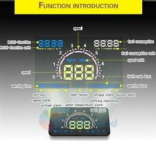 "5.8"" Vehicle Car HUD Head Up Display OBDII OBD2 Auto Gauge Dash Screen Projector"