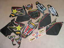 FLU TEAM ROCKSTAR GRAPHICS &  BLACK  BACKGROUNDS  SUZUKI RM125 RM250 2001-2008