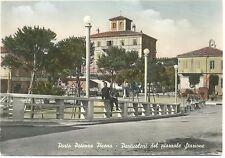 PORTO POTENZA PICENA - PARTICOLARI DEL PIAZZALE DELLA STAZIONE (MACERATA) 1955